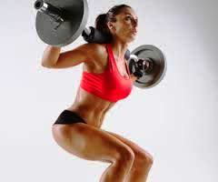 Female-Weight-Lifting-Routines-Barbell-Squat